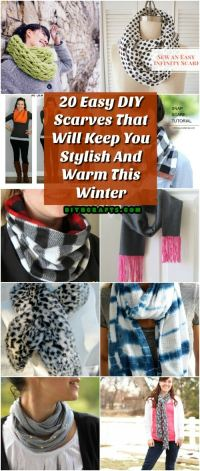 20 Easy DIY Scarves That Will Keep You Stylish And Warm ...
