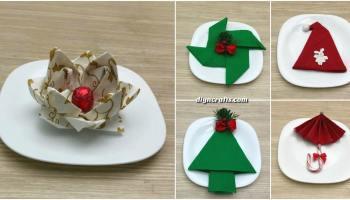 Napkin Folding Christmas.5 Festive Diy Christmas Napkin Designs With Simple Video