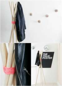 13 Creative DIY Coat Rack Ideas  chuckiesblog
