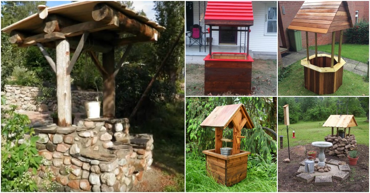 10 Easy DIY Garden Wishing Wells You Can Make Today With Free Plans DIY Amp Crafts