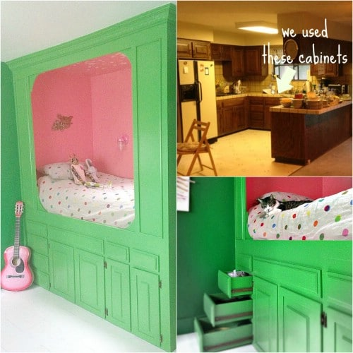10 Fabulous Repurposing Ideas For Old Kitchen Cabinets DIY & Crafts