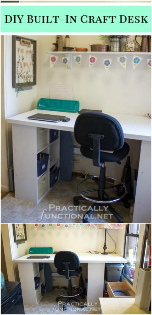 17 Easy To Build Diy Craft Desks You Just Can T Live