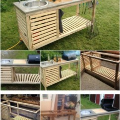Portable Outdoor Kitchen Cart With Butcher Block Top 15 Amazing Diy Plans You Can Build On A Budget