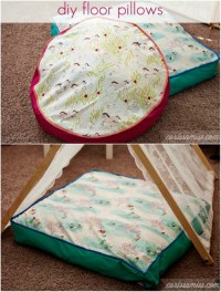 15 Comfy DIY Floor Pillows and Cushions