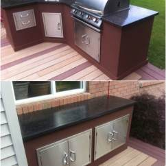 Grill For Outdoor Kitchen Kraftmaid Kitchens 15 Amazing Diy Plans You Can Build On A Budget With Concrete Countertops