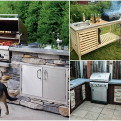 Grill For Outdoor Kitchen Tiny Kitchens 15 Amazing Diy Plans You Can Build On A Budget Crafts