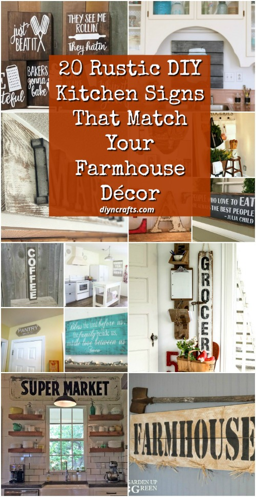 kitchen plaques plates set 20 rustic diy signs that match your farmhouse decor