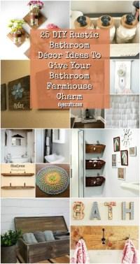 25 DIY Rustic Bathroom Dcor Ideas To Give Your Bathroom ...