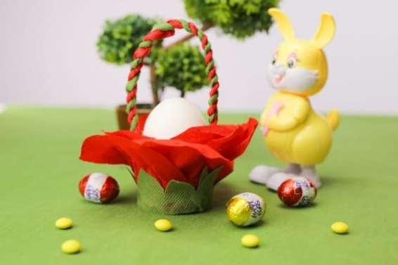 DIY Tissue Paper Easter Basket Decoration