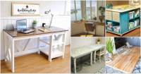 50 Decorative DIY Desk Solutions And Plans For Every Room ...