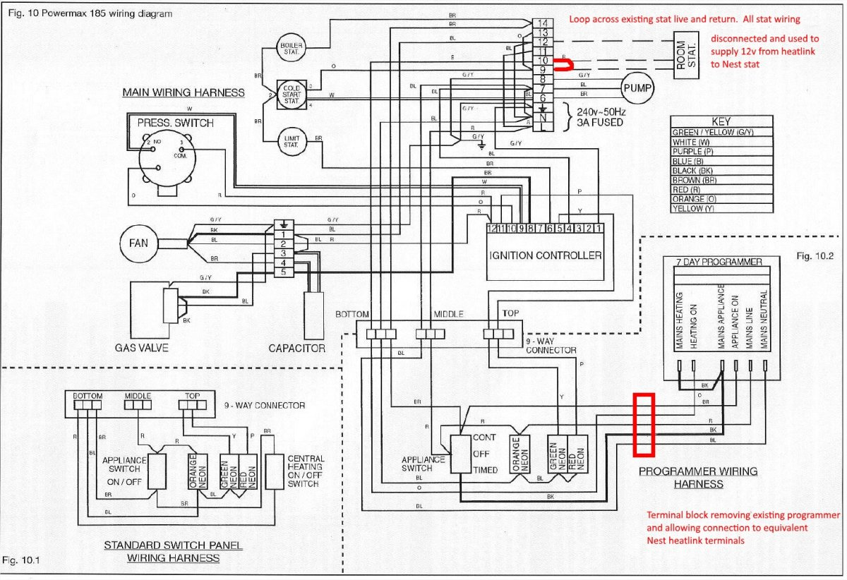 Wiring Diagram For Central Heating Programmer