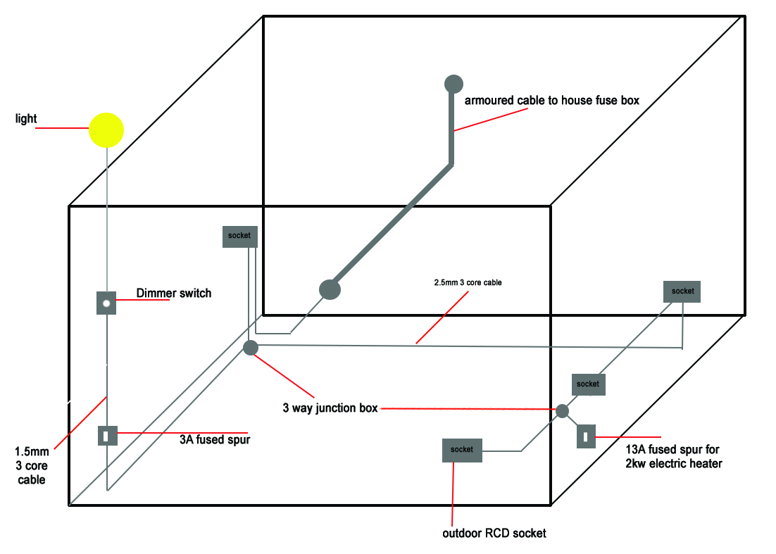 Light Wiring Diagrams Multiple Lights Radial Circuit Wiring Diagram With Fused Spurs Advice