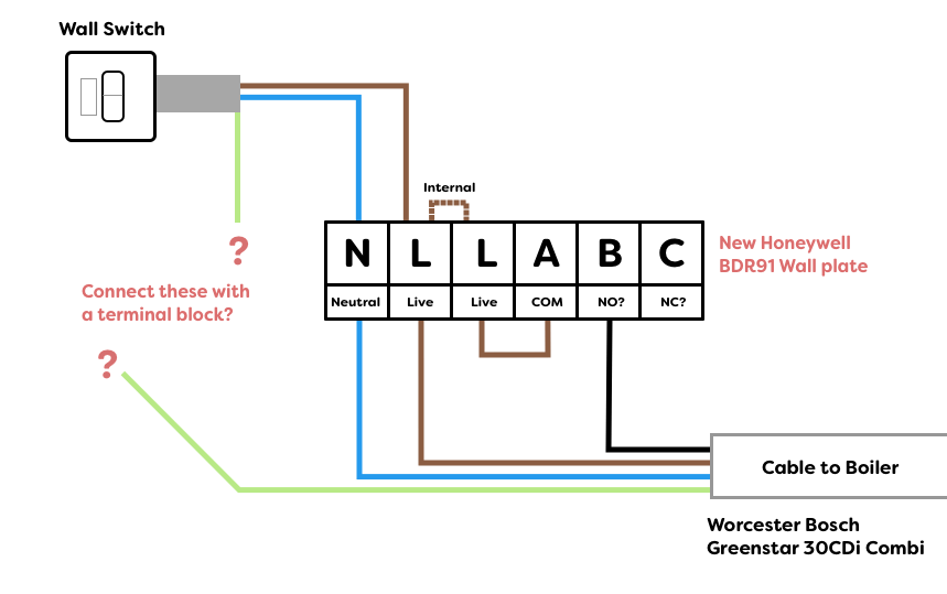 worcester bosch greenstar wiring diagram morris minor replacing danfoss rx-1 with honeywell bdr91 to | diynot forums