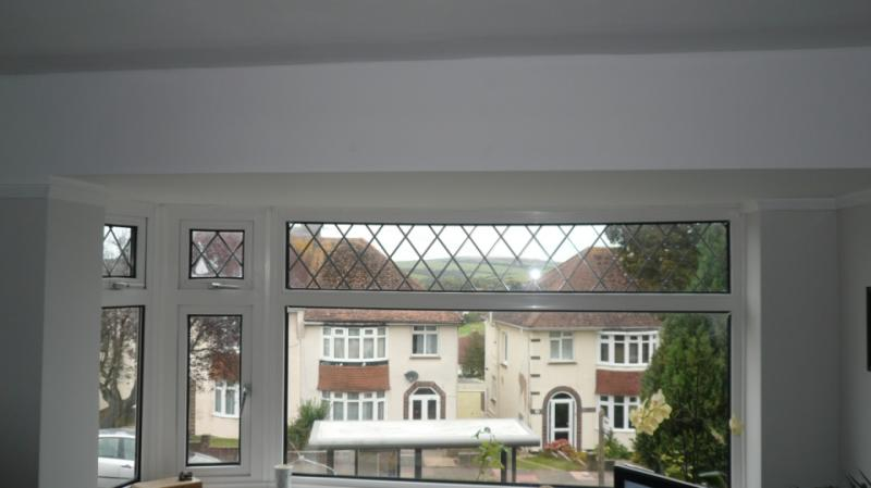 Curtain rail in a bay window with a flat roof and no lintel  DIYnot Forums