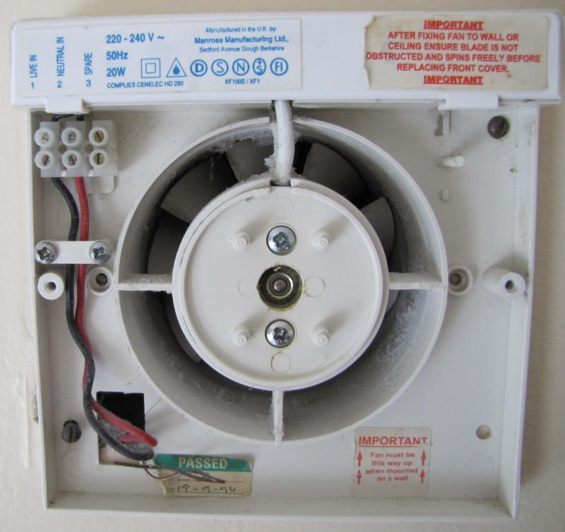 Fan With Light On Wiring Diagram For Bathroom Extractor Fan With
