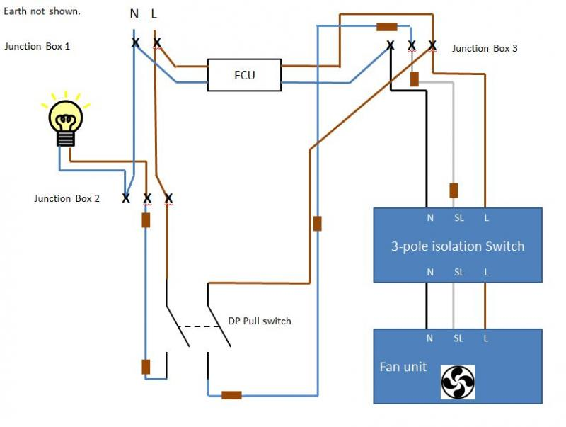 bathroom fan wiring diagram 2 pole lighting contactor fused, timed extractor | diynot forums