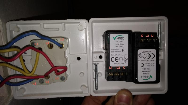 4 way switch wiring diagram uk 2008 nissan 350z radio help replacing double for dimmer | diynot forums