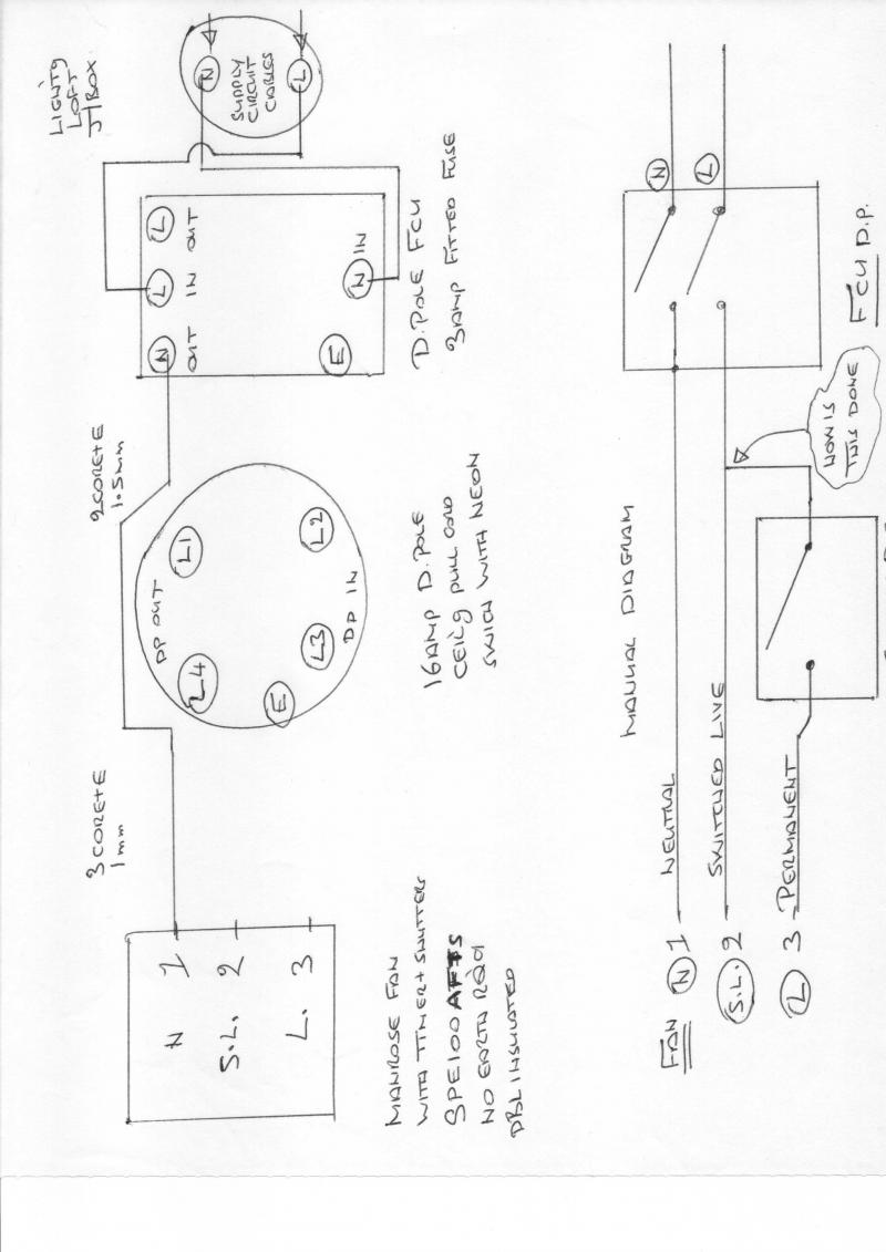 Manrose Bathroom Extractor Fan Wiring Diagram