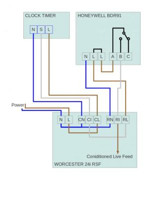 Connecting a Honeywell DT92E to a Worcester 24i RSF | DIYnot Forums