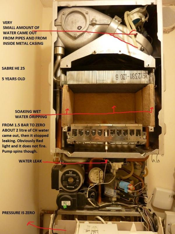 SABRE VOKERA HE 25 COMBI IS LEAKING WATER  DIYnot Forums
