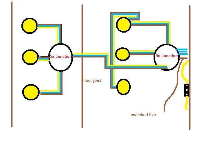 wiring diagram for led downlights amf harley davidson golf cart up 6 x 240v 50w spotlights | diynot forums