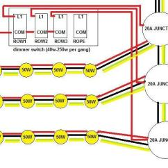 Wiring Diagram Lighting Circuit Uk How To Draw A Timing For Up 6 X 240v 50w Spotlights Diynot Forums