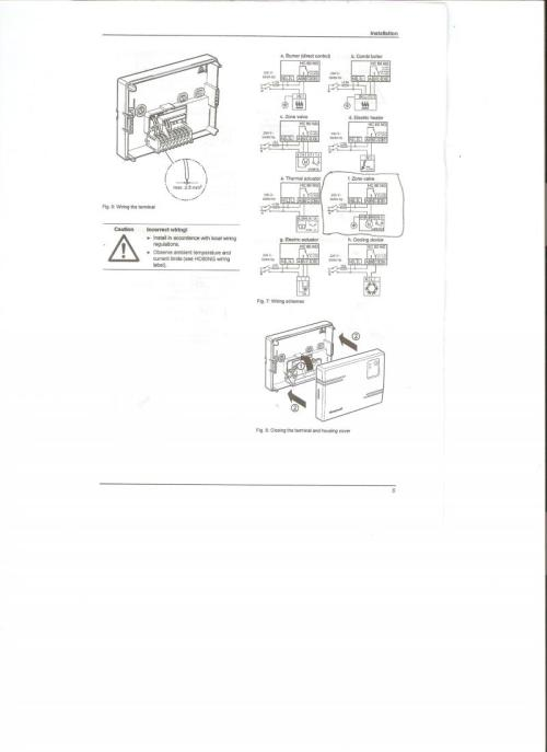 small resolution of see images below of s plan wiring and honeywell wiring diagram