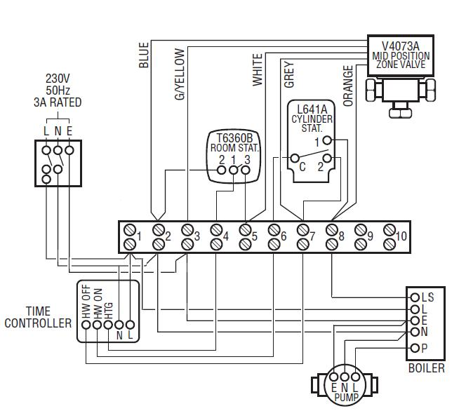 Y Plan Wiring Diagram With Pump Overrun
