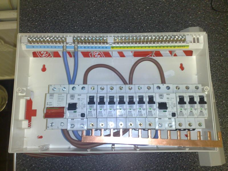 house fuse box wiring diagram three phase motor winding consumer unit - dual rcd from isolator | diynot forums