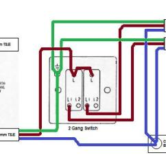 1 Way Switch Wiring Diagram Motorcraft 3g Alternator One Fcu, 2-gang For Two Sets Of Lamps | Diynot Forums