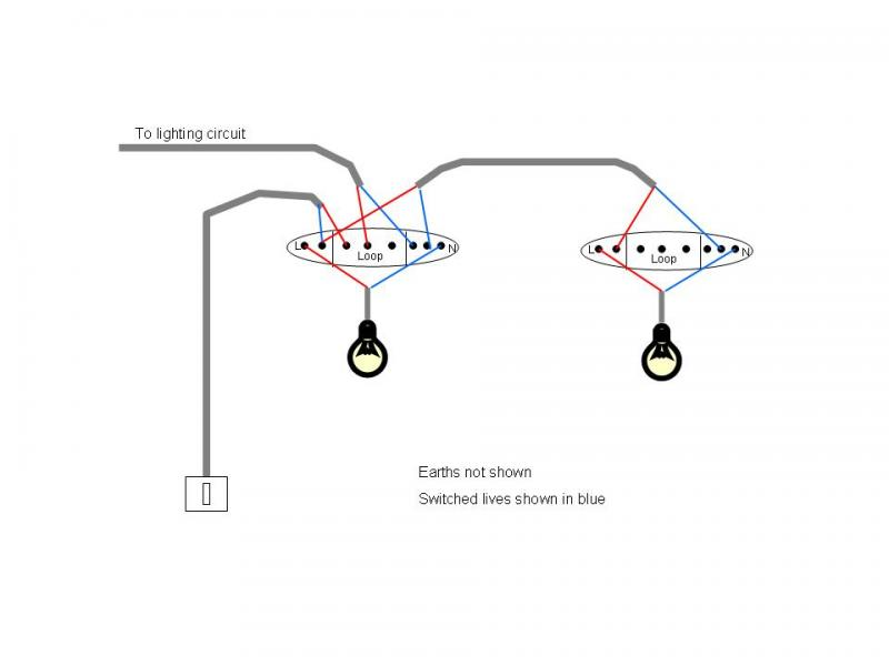 Wiring 4 Lights To One Switch Diagram