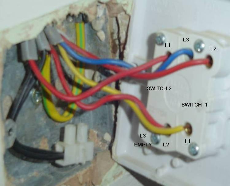 Single Pole Switch 2 Lights Wiring Diagram How To Help With Replacing Double Light Switch With A Single