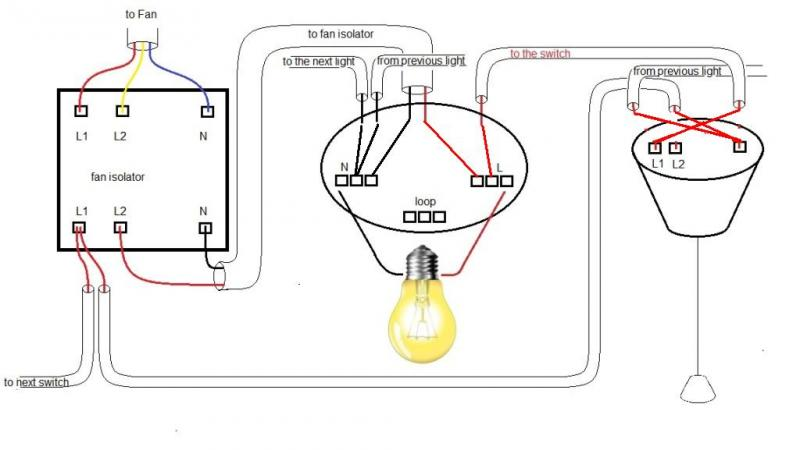 wiring extractor fan isolator switch