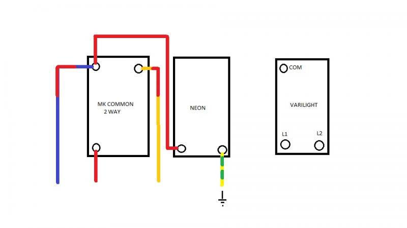 Mk Double Light Switch Wiring Diagram