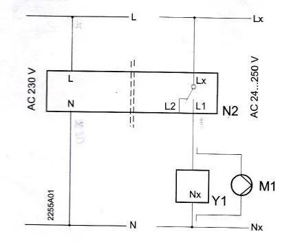 Siemens RCR10 RF receiver wiring to Remeha Avanta39c