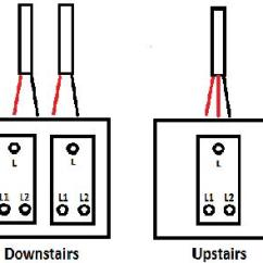 3 Way Switch Wiring Diagram 2 Switches Bmw E30 Obc Hall/landing Switches, Old Wiring. | Diynot Forums