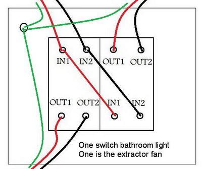 How To Replace Bathroom Light And Fan Switch