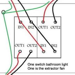 Wiring Double Light Switch Diagram 2001 Nissan Altima Belt Replacing A Bathroom Light/fan ... Connections? | Diynot Forums