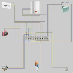 Wireless room thermostat wiring | DIYnot Forums