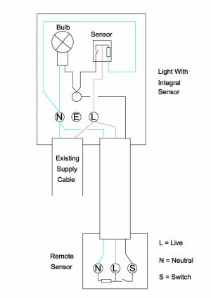 Wiring extra sensor into security light | DIYnot Forums