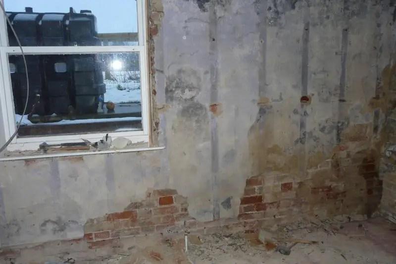 Damp external wall under lath and plaster  DIYnot Forums