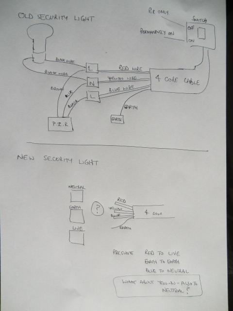 Light Wiring Diagram On Wiring To A Motion Sensor Lights Outside