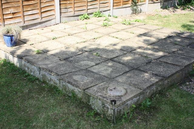 decking over a patio advice needed