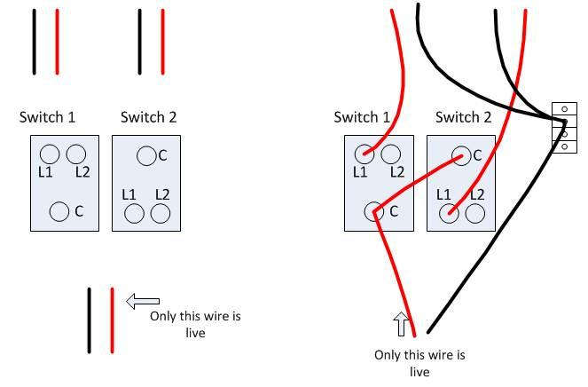 3 gang dimmer switch wiring diagram uk 97 ford explorer xlt radio change 2 1 way light in kitchen - probs!! | diynot forums