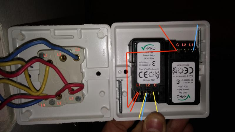 Help Replacing Double Switch For Double Dimmer Switch DIYnot Forums