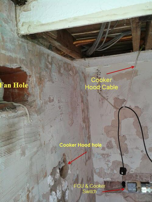 kitchen extractor fan white decor wiring | diynot forums
