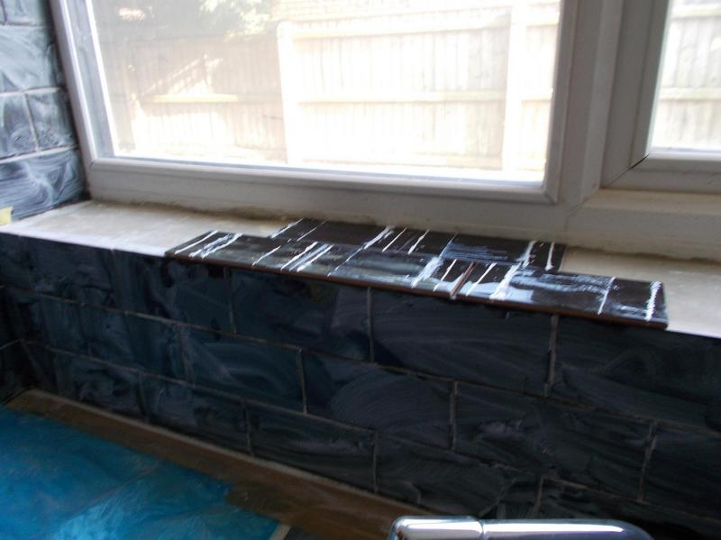 best usual way to tile window sill