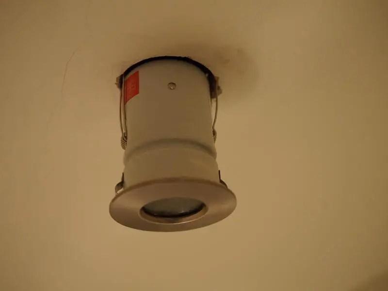 Changing Bathroom Light Bulb