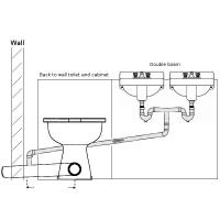 Double basin waste into toilet soil pipe plumbing   DIYnot ...