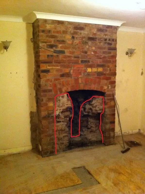Restoring an exposed brick fireplace  DIYnot Forums